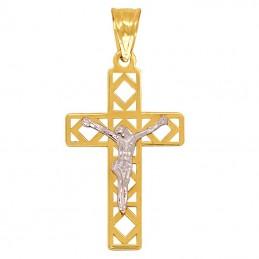 Złoty Krzyżyk z figurą...