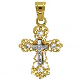 Złoty Krzyżyk prawosławny dla dziewczynki
