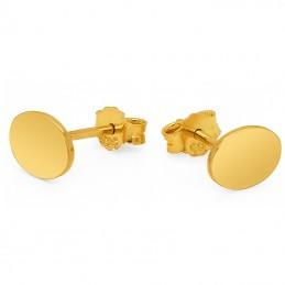 Złote kolczyki Owalne sztyft pr.585