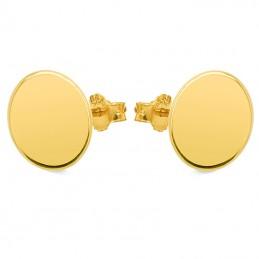 Złote kolczyki Koła sztyft pr.585