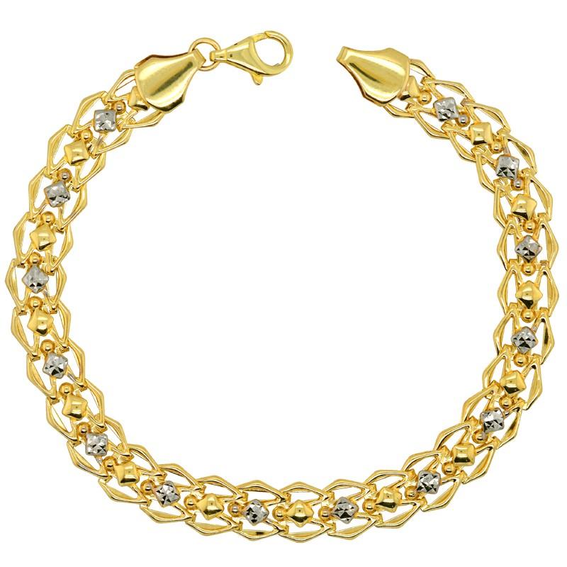 Złota bransoletka Roma splot Ażurowy pr. 585