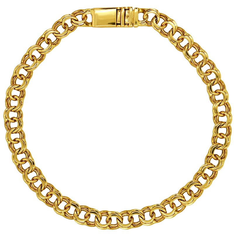 Złota bransoletka splot Bismark Garibaldi pr. 585