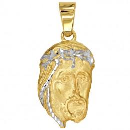 Złoty Medalik Głowa Jezusa...