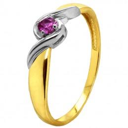 Złoty pierścionek Love z...