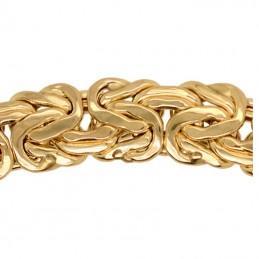 Złota bransoletka splot królewski, bizantyjski, pr. 585