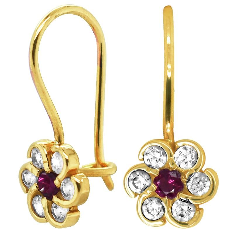 Rose Princes kolczyki dla dziewczynki Kwiatuszki na biglu pr. 585