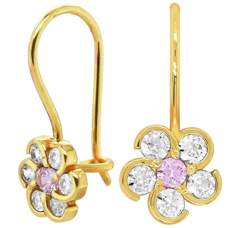 Pink Princes kolczyki dla dziewczynki Kwiatuszki na biglu pr. 585