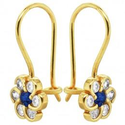 Blue Princes kolczyki dla dziewczynki Kwiatuszki na biglu pr. 585