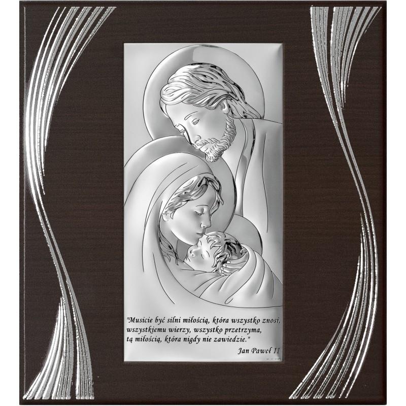 Obrazek Srebrny Świętej Rodziny 21x23cm