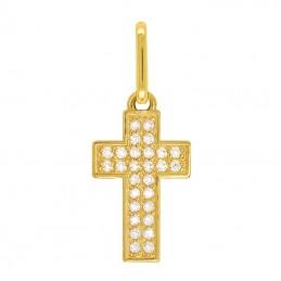 Złoty Krzyżyk z Cyrkoniami...
