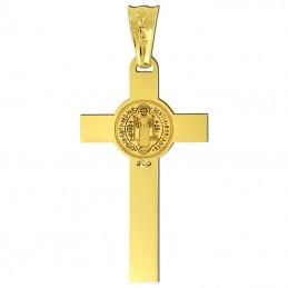Złoty Krzyż św. Benedykta złoto 585 M