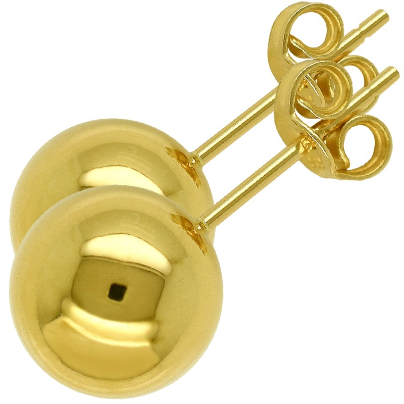 Złote Kolczyki Kule sztyft XL złoto 585