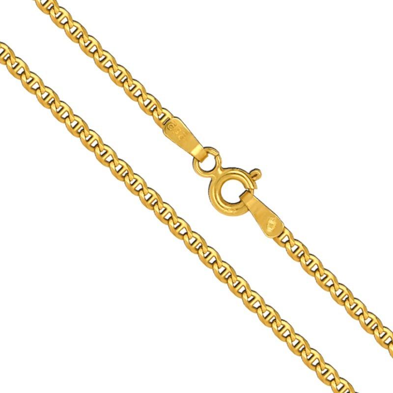Złoty Łańcuszek Merino szlifowany 45/3,1 pełne złoto M 585
