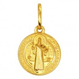 Złoty Medalik Św. Benedykta...