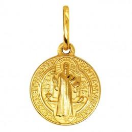 Złoty Medalik Św. Benedykta S złoto 585