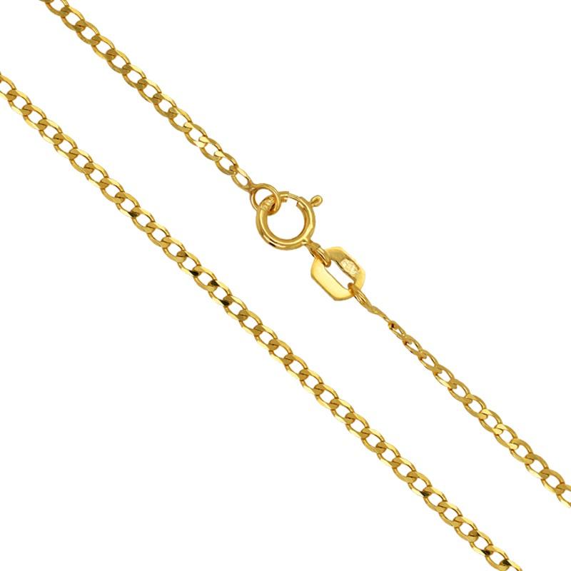 Złoty łańcuszek typu Pancerka szlifowana 2,5g złoto 585