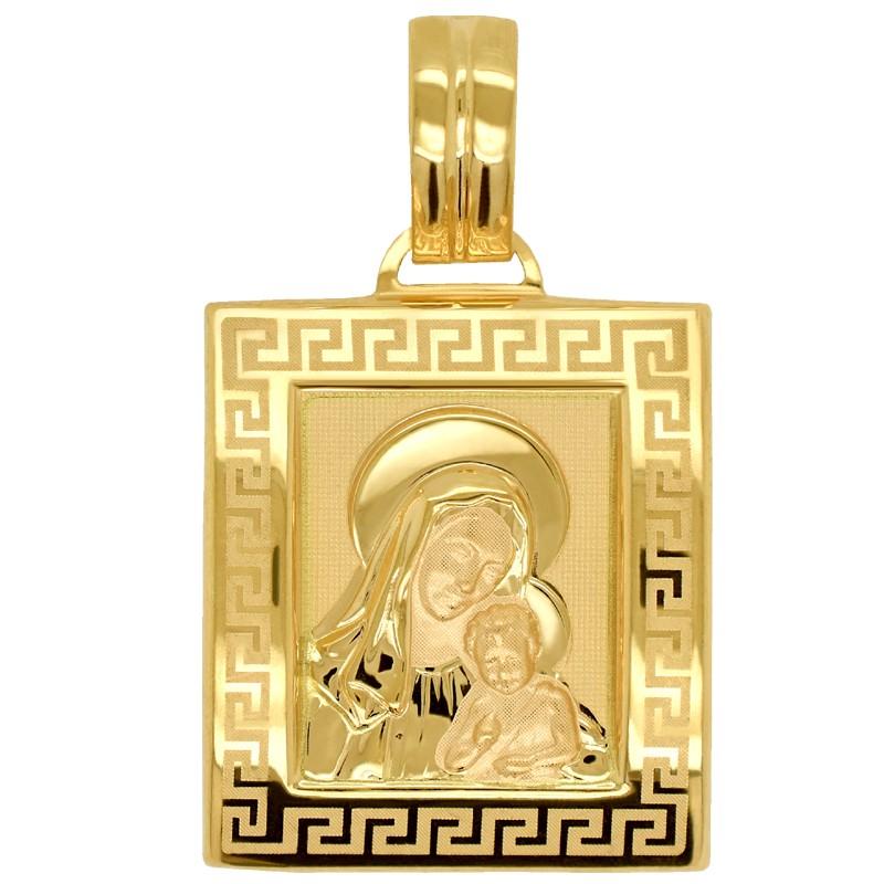 Matka Boża z Dzieciątkiem medalik kwadrat L pr 585