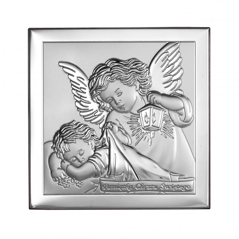 Obrazek Srebrny Chrzest Święty 8x8cm