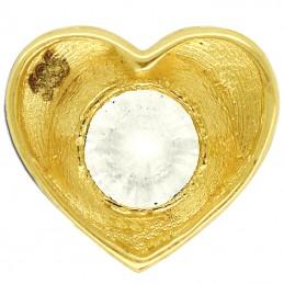 Złote Serce z Cyrkonią przewlekane złoto 585