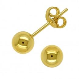Złote Kolczyki Kule sztyft MS złoto 585