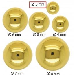 Złote Kolczyki Kule sztyft XS złoto 585