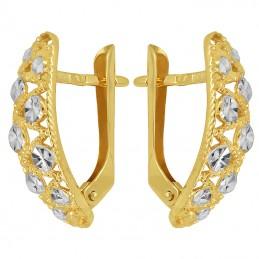 Złote kolczyki ażurowe z białym złotem pr. 585