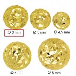 Złote Kolczyki Kule Grawerowane sztyft M złoto 585