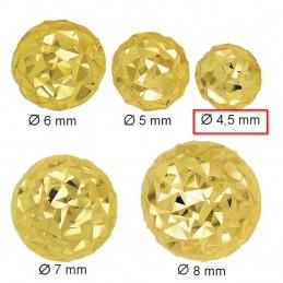 Złote Kolczyki Półkule Grawerowane sztyft S złoto 585