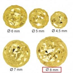 Złote Kolczyki Półkule Grawerowane sztyft XL złoto 585