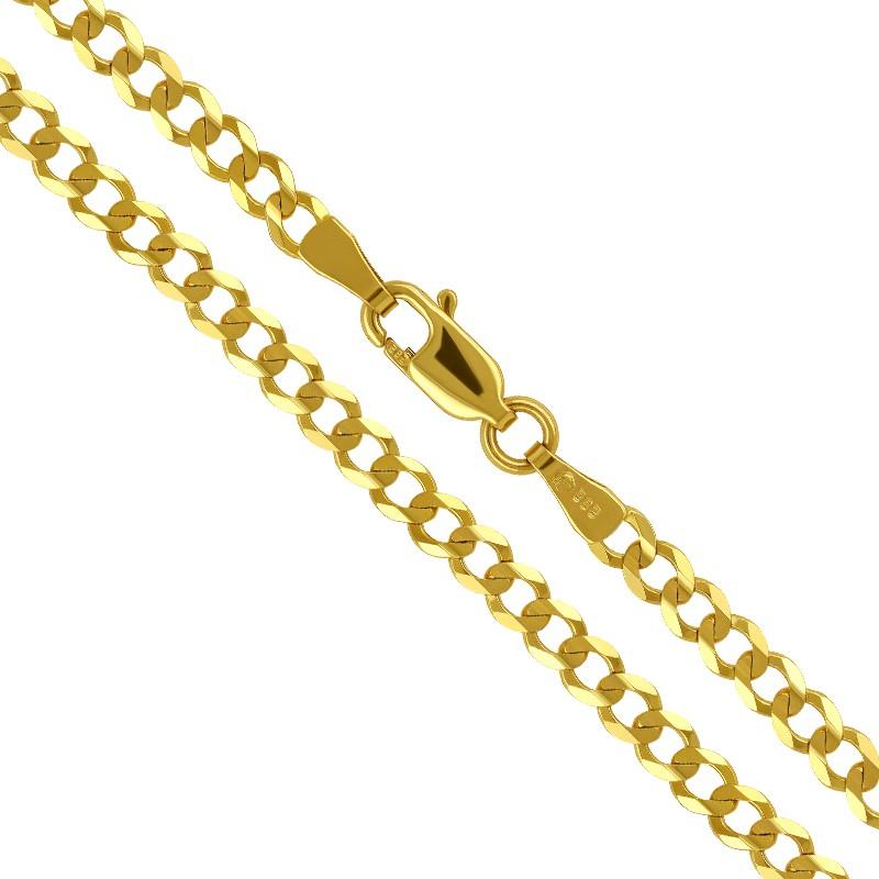 Złoty Łańcuszek splot pancerka szlifowana 55/10,66 585