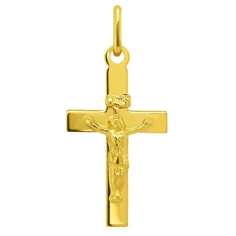Złoty Krzyżyk z figurką Jezusa Chrystusa 0,85 pr. 585
