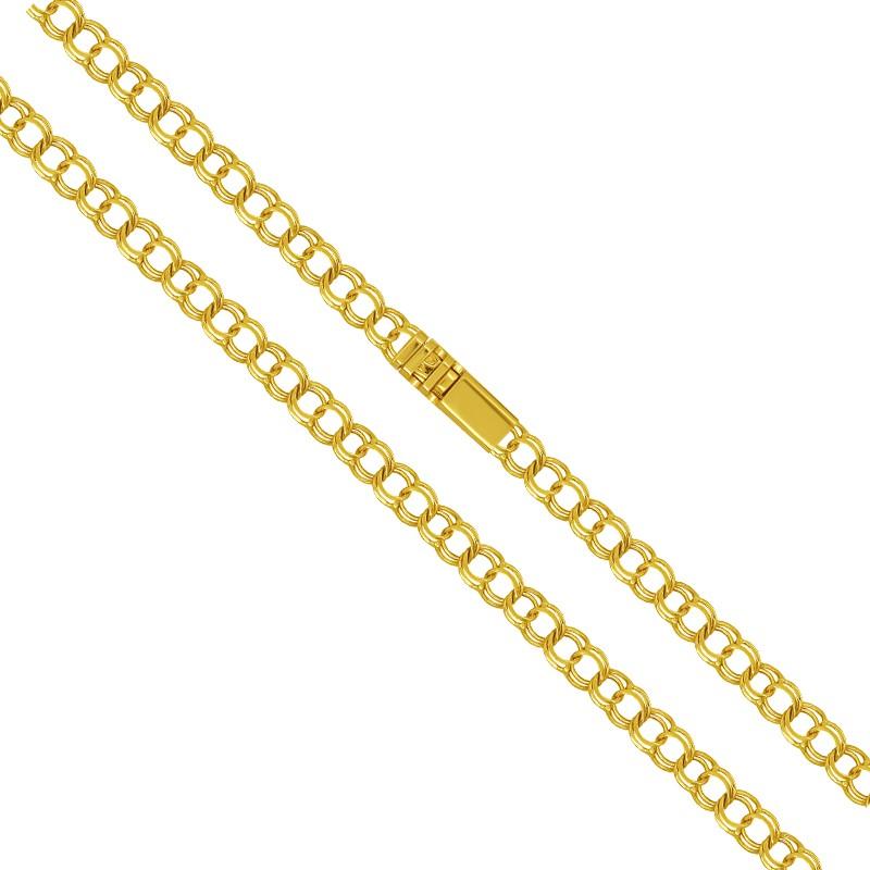 Złoty łańcuszek splot Bismark Garibaldi 60/9g pr. 585