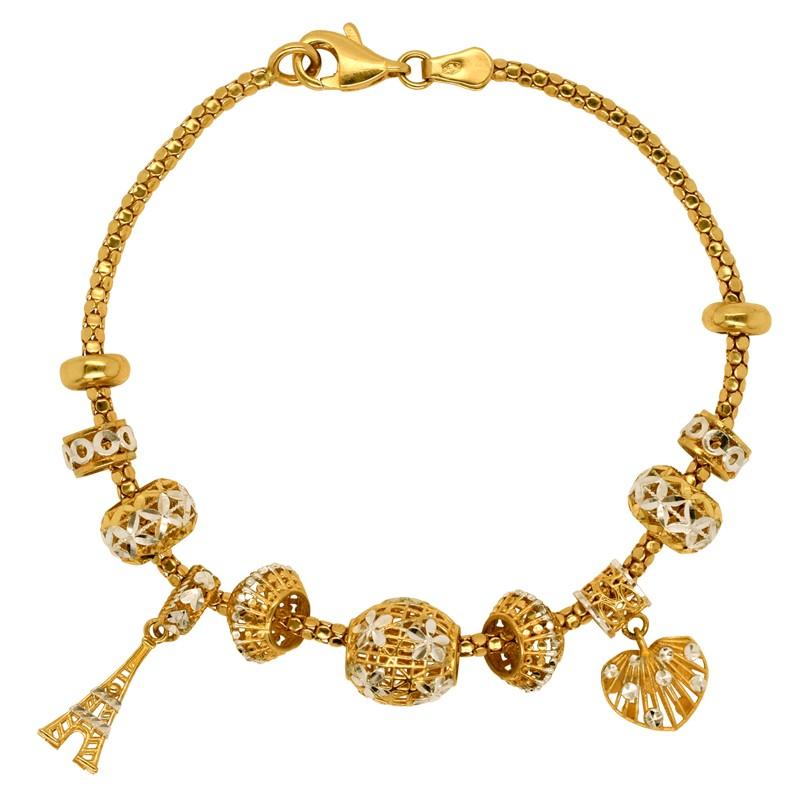 Złota bransoletka z Ażurowymi ozdobami pr. 585