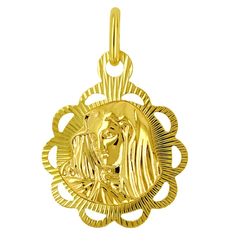 Złoty medalik Matka Boża Pamiątka Komunii św. pr 585