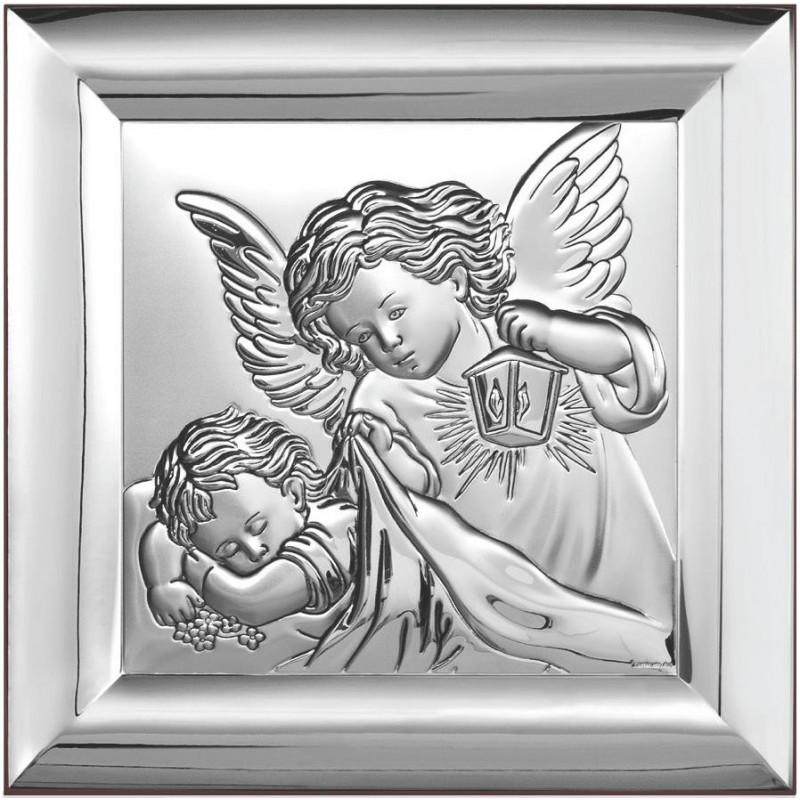 Obrazek z wizerunkiem Aniołka z latarenką nad dzieckiem