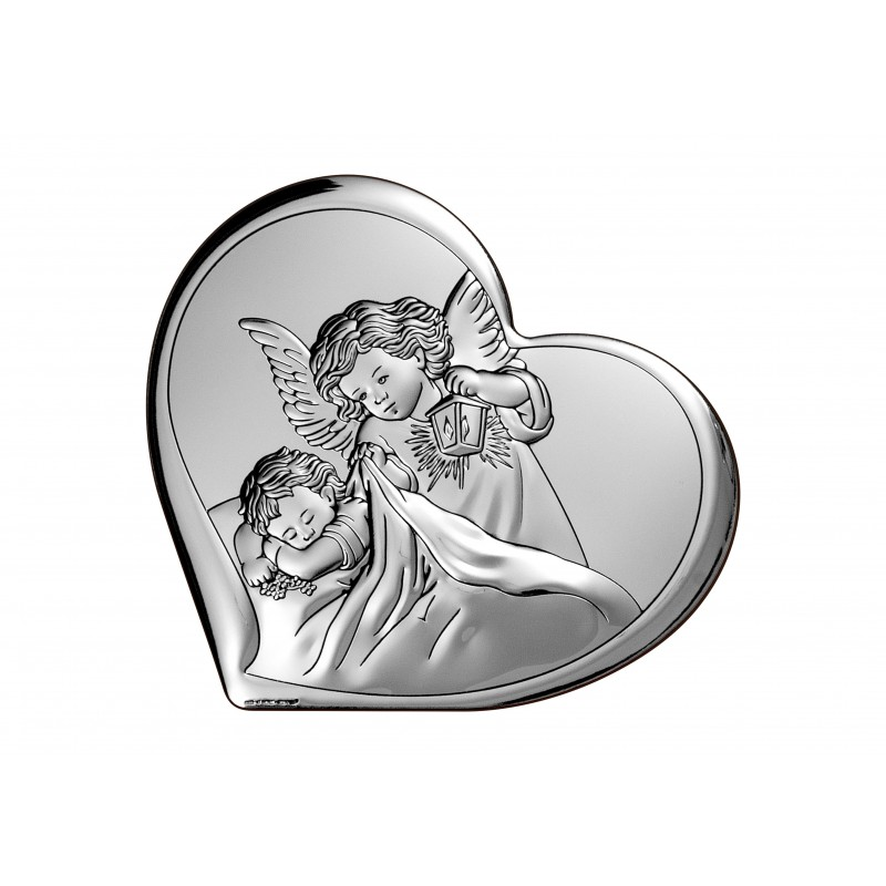 Obrazek srebrny Chrzest Święty 8x7,3cm