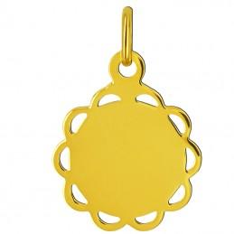 Pamiątka Komunii Złoty medalik Matka Boża Pamiątka Komunii św. pr 585