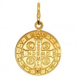 Pamiątka Komunii Złoty Medalik Św. Benedykta M złoto 585