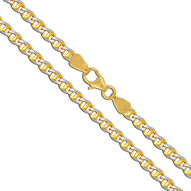 Złoty Łańcuszek Pamiątka Komunii pancerka 55/5,27, złoto 585