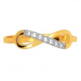 Złoty Pierścionek Infinity Znak nieskończoności złoto585