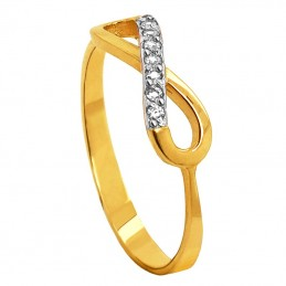 Złoty Pierścionek Infinity...