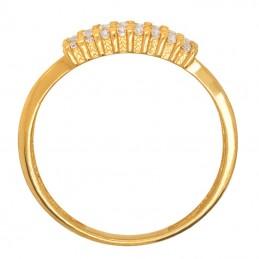 Złoty pierścionek Wielorzędowy 4 rzędy Cyrkonie złoto 585
