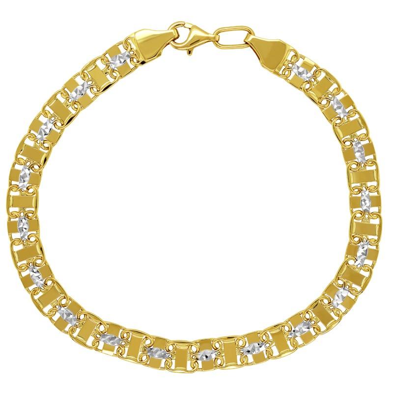 Złota bransoletka Princess Ażurowa z białym 8,0 pr. 585