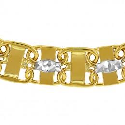 Złota bransoletka Princess Ażurowa z białym 5,6 pr. 585