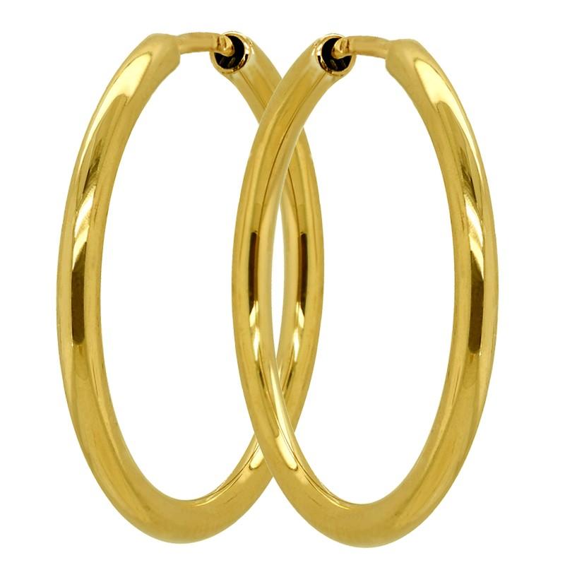 Złote Kolczyki koła klasyczne M-37mm złoto pr. 585