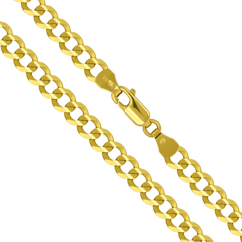 Złoty Łańcuszek splot pancerka szlifowana 55/9,2g 585