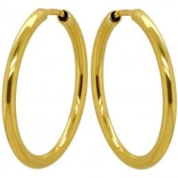 Złote Kolczyki koła klasyczne L-46mm złoto pr. 585