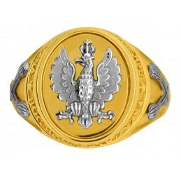 Złoty Sygnet męski Marszałkowski legionowy złoto 585