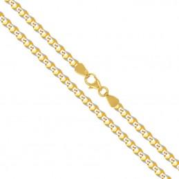 Złoty Łańcuszek splot pancerka szlifowana z białym, złoto 585