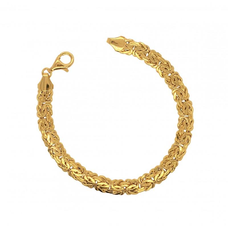 Złota bransoletka splot królewski, bizantyjski L, pr. 585